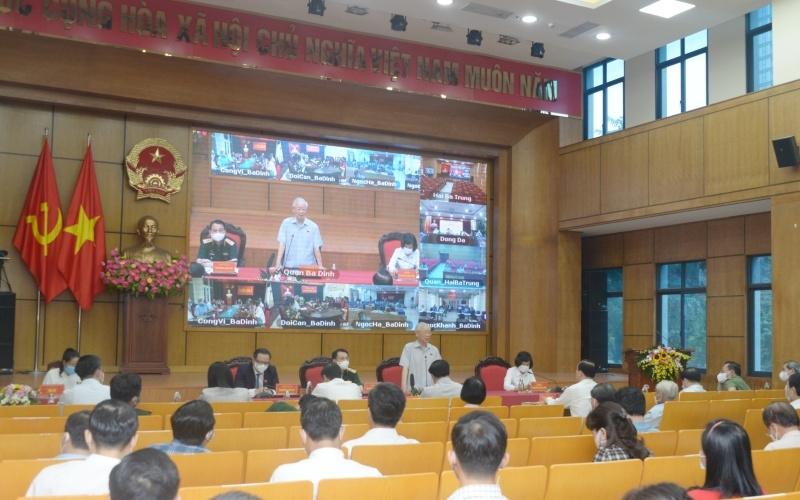 Tổng Bí thư Nguyễn Phú Trọng phát biểu tại Hội nghị tiếp xúc cử tri Hà Nội, ngày 9/10.