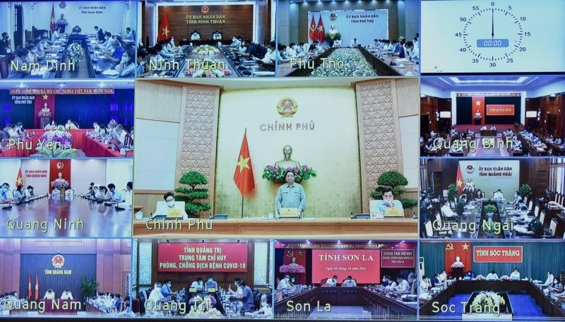 Cuộc họp trực tuyến của Ban Chỉ đạo với 63 tỉnh, thành phố trực thuộc Trung ương.