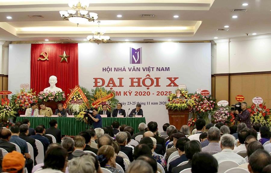 Đại hội X Hội Nhà văn Việt Nam nhiệm kỳ 2020 - 2025, tổ chức ngày 24/11/2020. (Ảnh TL)