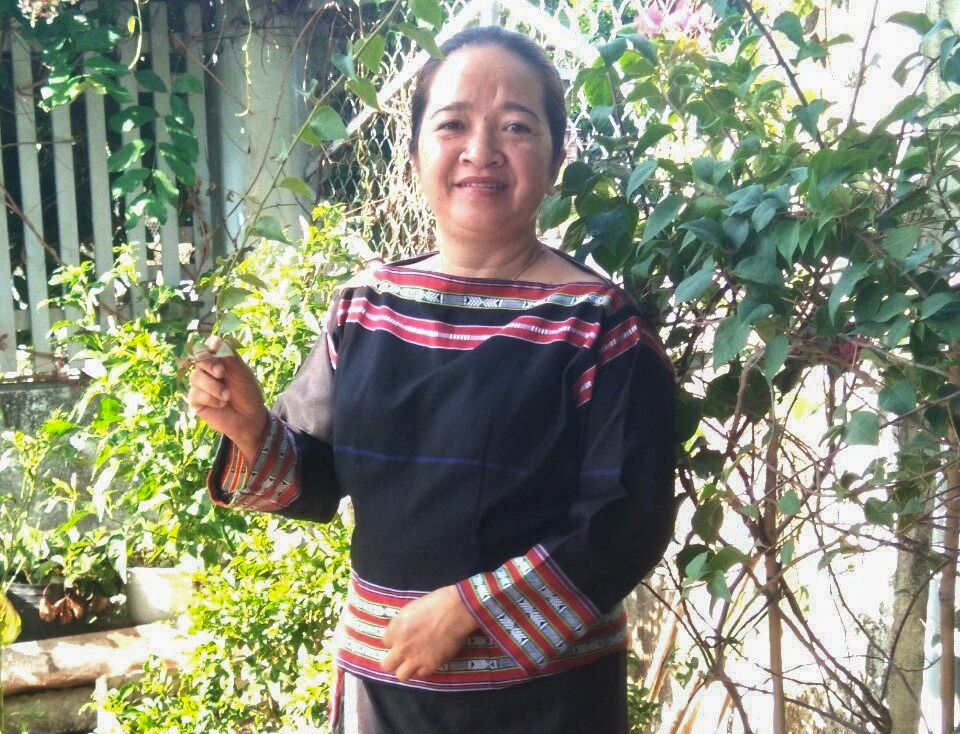 Chị Nay H'Li Na, Chủ tịch Hội LHPN xã Ia Rbol, thị xã Ayun Pa (Gia Lai)
