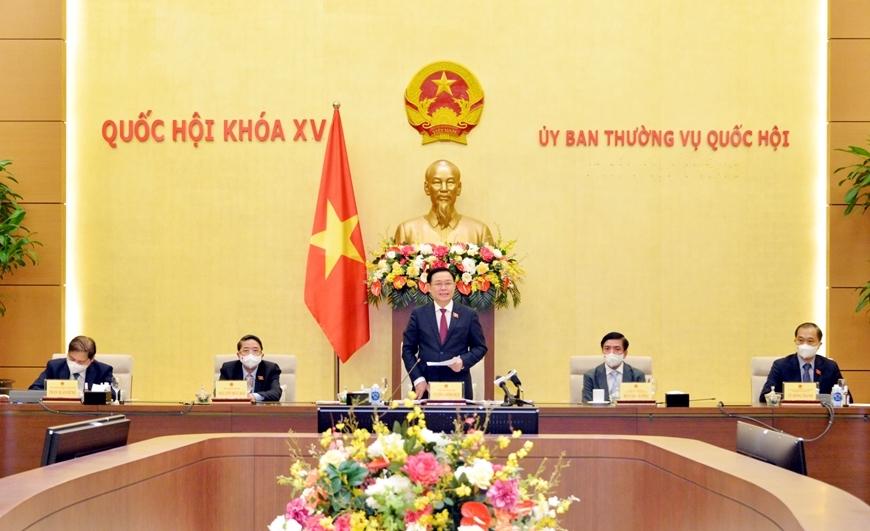 Chủ tịch Quốc hội phát biểu tại cuộc gặp