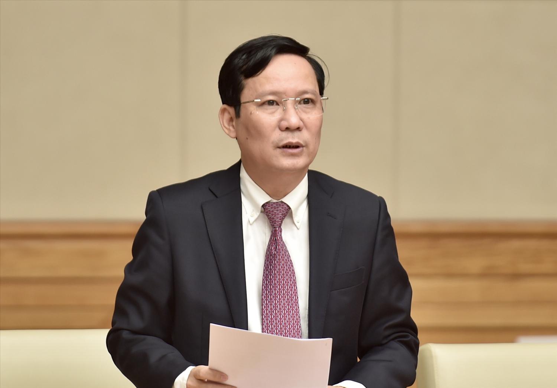 Ông Phạm Tấn Công, Chủ tịch VCCI, thay mặt cộng đồng doanh nhân, doanh nghiệp, phát biểu tại buổi gặp mặt. Ảnh: VGP/Nhật Bắc