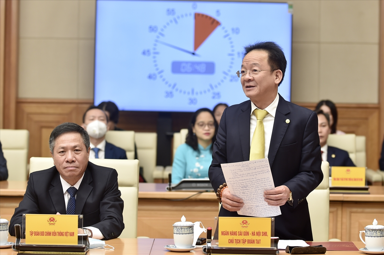 Ông Đỗ Quang Hiển, Chủ tịch HĐQT kiêm Tổng Giám đốc Tập đoàn T&T Group: Việt Nam đã có đội ngũ doanh nhân hùng mạnh, không ngừng nỗ lực quyết tâm đổi mới sáng tạo, góp phần phát triển đất nước. Ảnh: VGP/Nhật Bắc