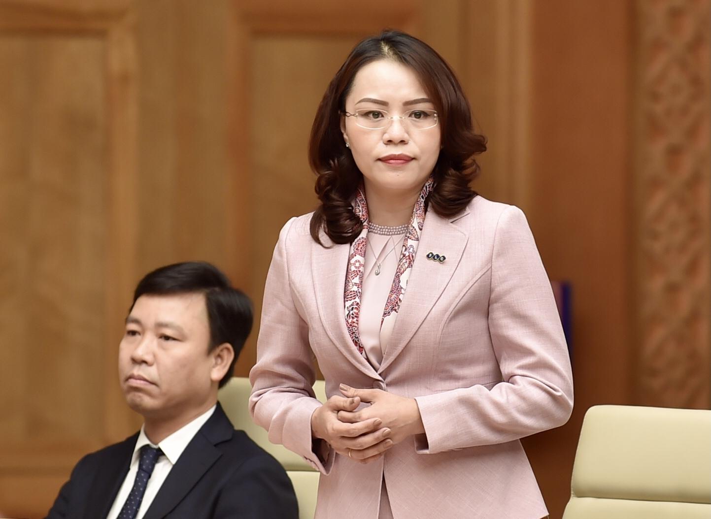 Bà Hương Trần Kiều Dung, Phó Chủ tịch thường trực HĐQT FLC, Phó Chủ tịch HĐQT hãng hàng không Bamboo Airways, Ủy viên Ban Thường vụ Hiệp hội Bất động sản Việt Nam, cho rằng: Thủ tướng luôn dành sự quan tâm rất lớn cho phát triển kinh tế và sự đóng góp của giới doanh nhân. Ảnh: VGP/Nhật Bắc