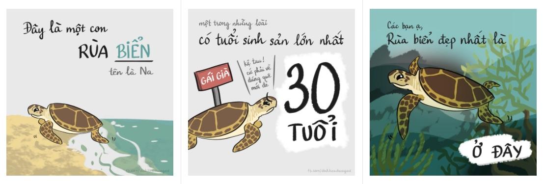 """Một số hình ảnh trong bộ truyện """"Con rùa thứ hai"""" của Đỗ Mỹ Linh. (Ảnh: NVCC)"""