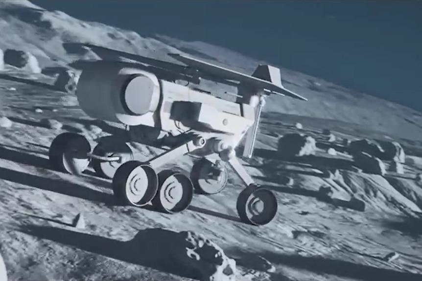 Australia đang chế tạo một tàu thám hiểm Mặt Trăng. Ảnh minh hoạ: ABC