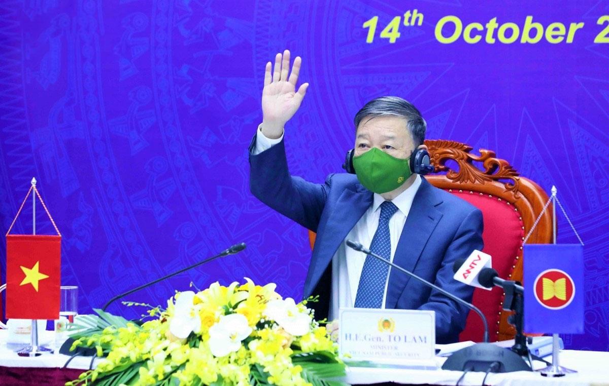 Đại tướng Tô Lâm, Bộ trưởng Bộ Công an, Trưởng đoàn đại biểu của Việt Nam tại Hội nghị
