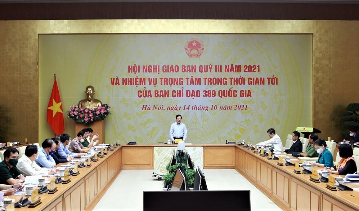 Phó Thủ tướng Phạm Bình Minh yêu cầu các lực lượng chức năng tăng cường kiểm tra, kiểm soát, xử lý hàng hóa không rõ nguồn gốc, hàng kém chất lượng, hàng giả, hàng nhập lậu... Ảnh: VGP/Hải Minh