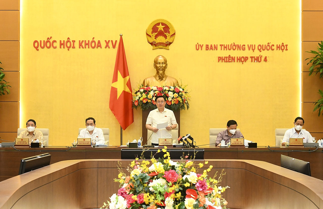 Chủ tịch Quốc hội Vương Đình Huệ cho biết dự kiến kỳ họp thứ 2, Quốc hội khóa XV tổ chức theo 2 đợt, đợt 1 họp trực tuyến và đợt 2 họp tập trung.