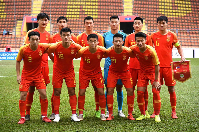 Các tuyển thủ U23 Trung Quốc. Ảnh: CFA