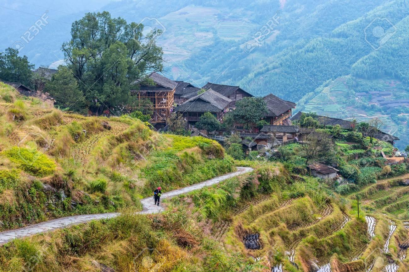 Một góc ngôi làng của người Choang ở Quảng Tây