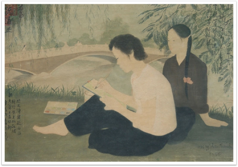 """Tác phẩm """"Trong Công viên Thống Nhất"""" (Nguyễn Phan Chánh)."""