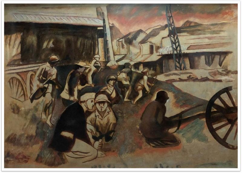 """Tác phẩm """"Thủ đô kháng chiến"""" (Nguyễn Quang Phòng)."""