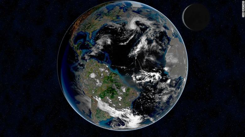 Theo một nghiên cứu địa vật lý mới, việc thiếu mây trên Trái Đất đang khiến hành tinh này tối dần đi. Ảnh: CNN